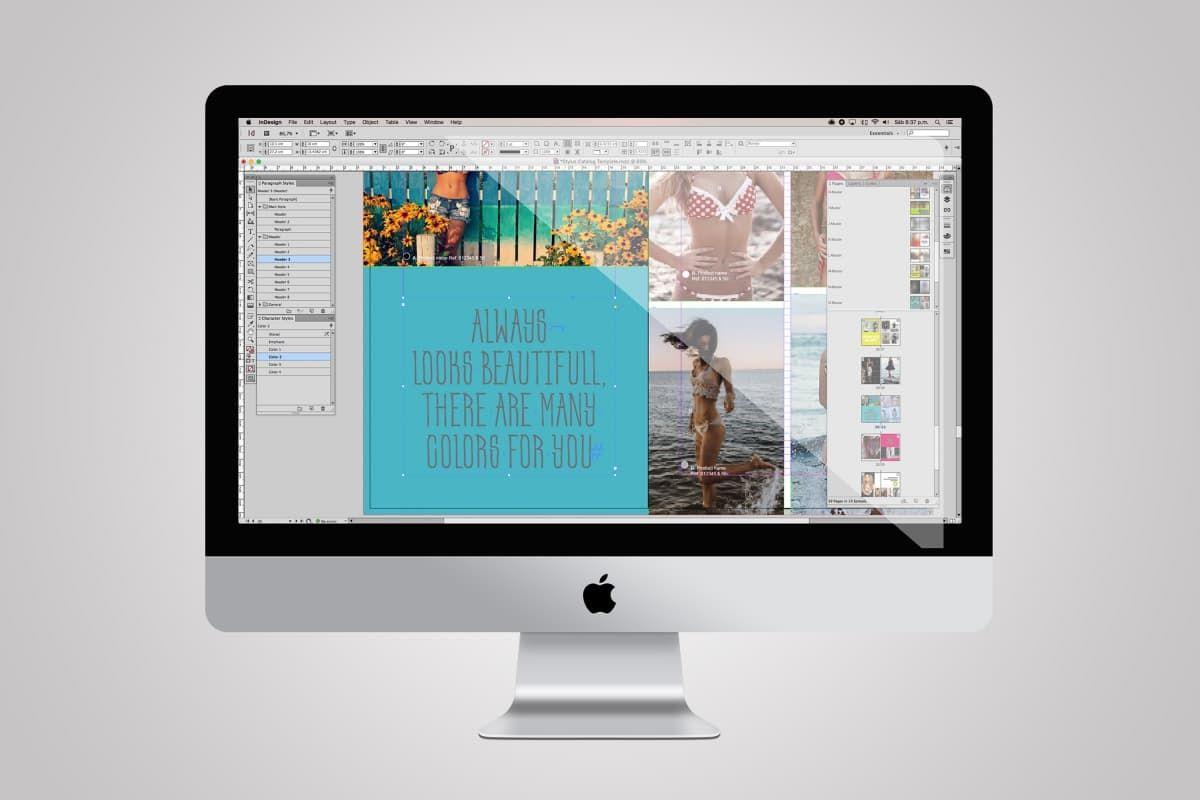 Stylus es una fabulosa plantilla A4 de un catálogo para InDesign con ...