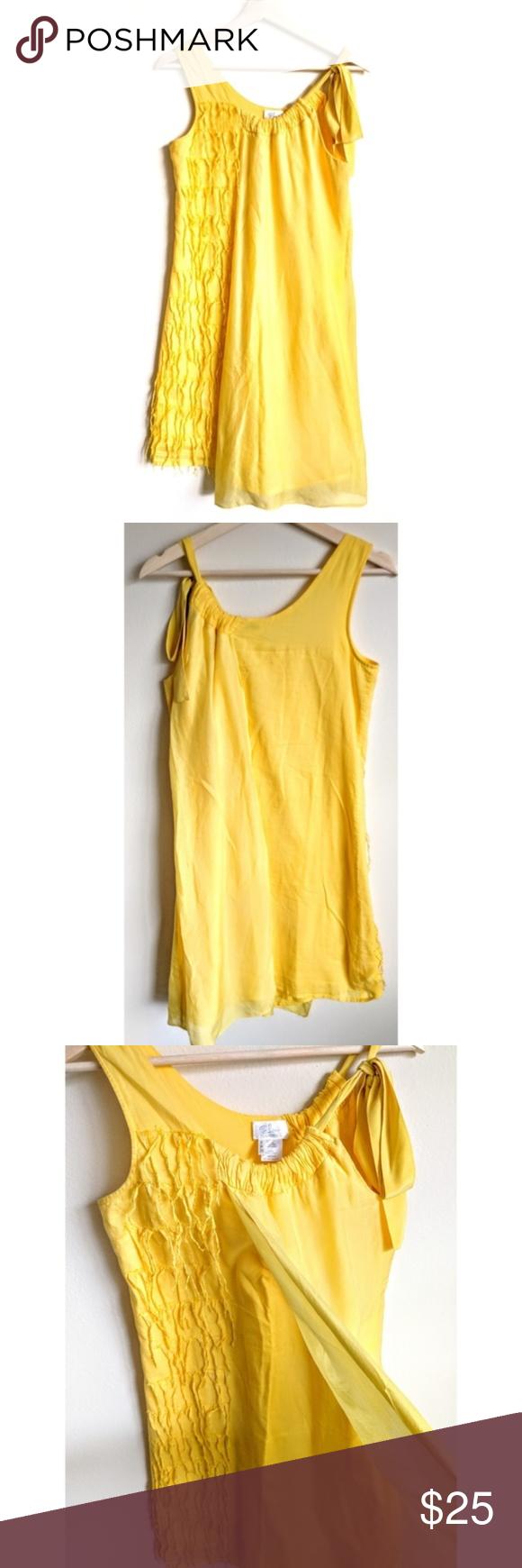 Tony Cohen Yellow Silk Cotton Sun Dress 6 A Lightweight Sunflower Yellow Dress By 2 Love Tony Cohen Half Of The Fron Clothes Design Dresses Cotton Dresses [ 1740 x 580 Pixel ]