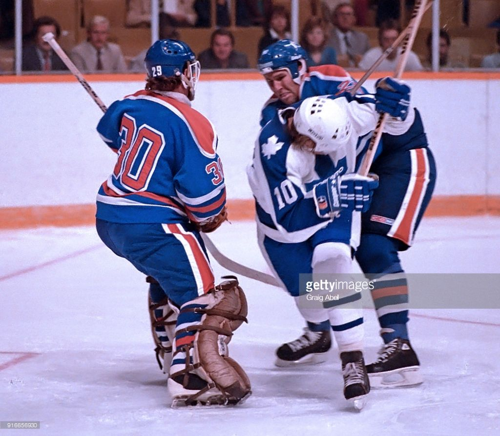 outlet store 26e99 2af27 Marion Stastny #10 of the Toronto Maple skates against Mike ...
