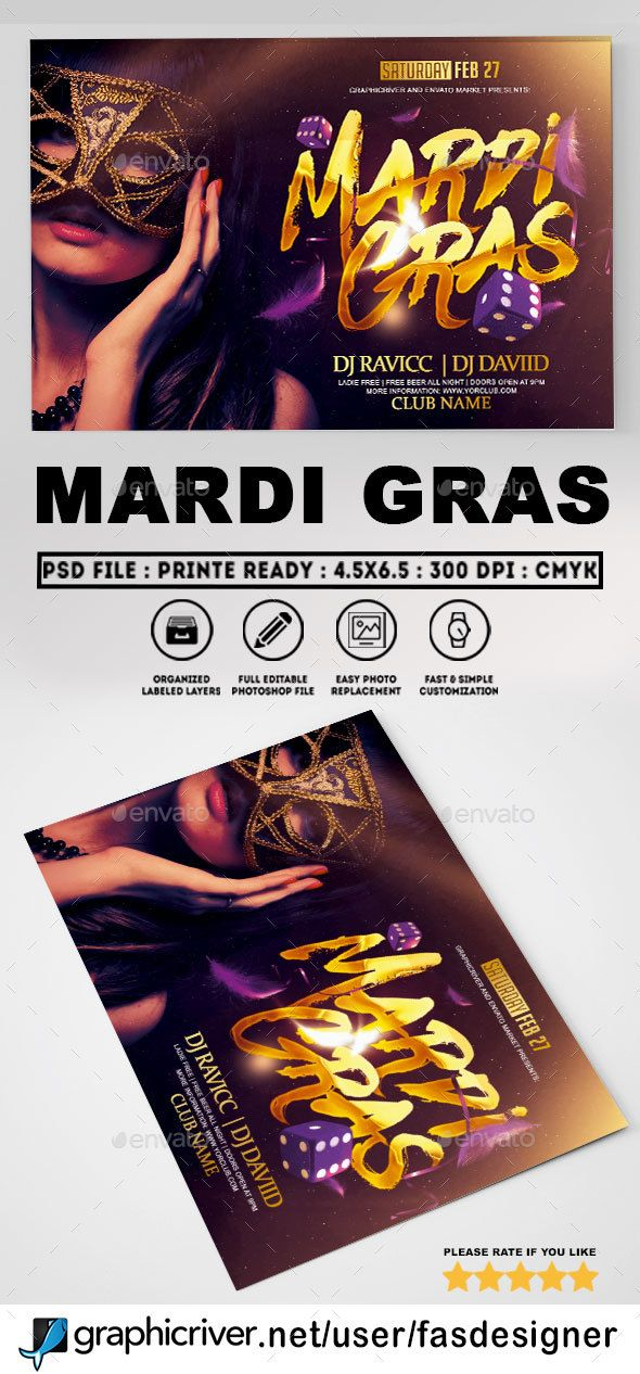 Mardi Gras Flyer Template Flyer Template Mardi Gras And Template
