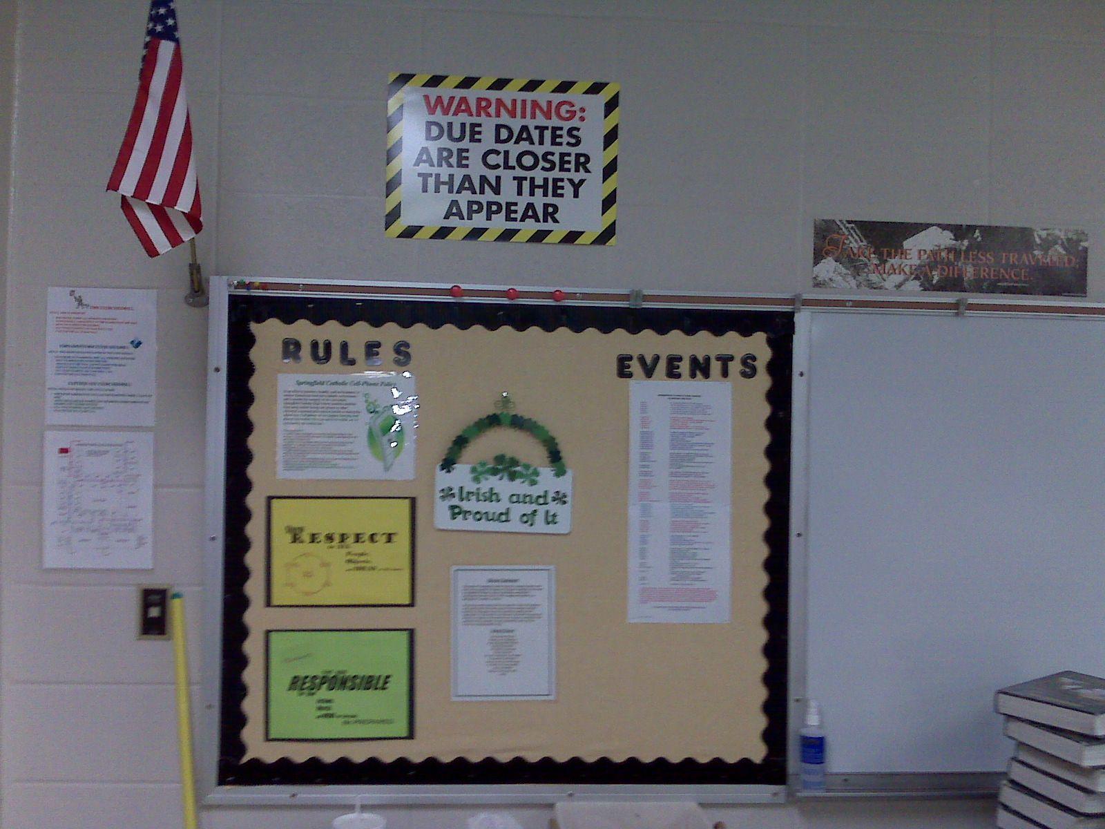 Classroom Bulletin Board Ideas High School ~ High school english bulletin board ideas