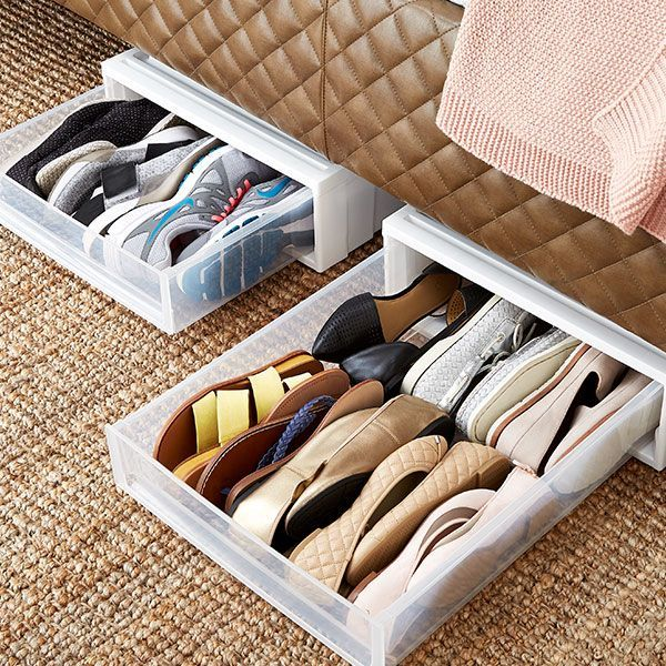 How To Organize Shoes Shoe Organization Ideas The Container Store Shoe Organization Closet Shoe Organization Small Space Diy Shoe Storage