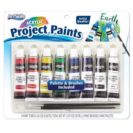 Arts Crafts Sewing Paint Set Palette Paint Tubes