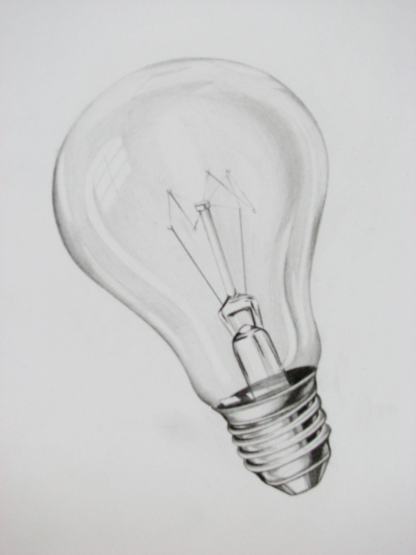 Light Bulb Light Bulb Drawing A Level Art Themes Lightbulb Tattoo