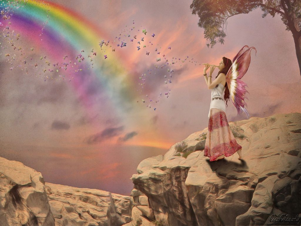 Somewhere Over The Rainbow Bluebirds Fly Birds Fly Over The Rainbow Rainbow Wallpaper Native American Wisdom Art