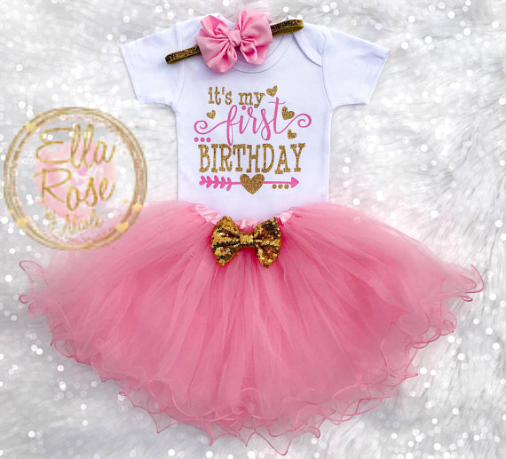 6601365e1a933 First Birthday Outfit Girl / 1st Birthday Girl Outfit / It's My ...
