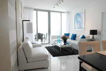 White On White  Contemporary  Living Room  Miami  Guimar New Living Room Miami Inspiration Design