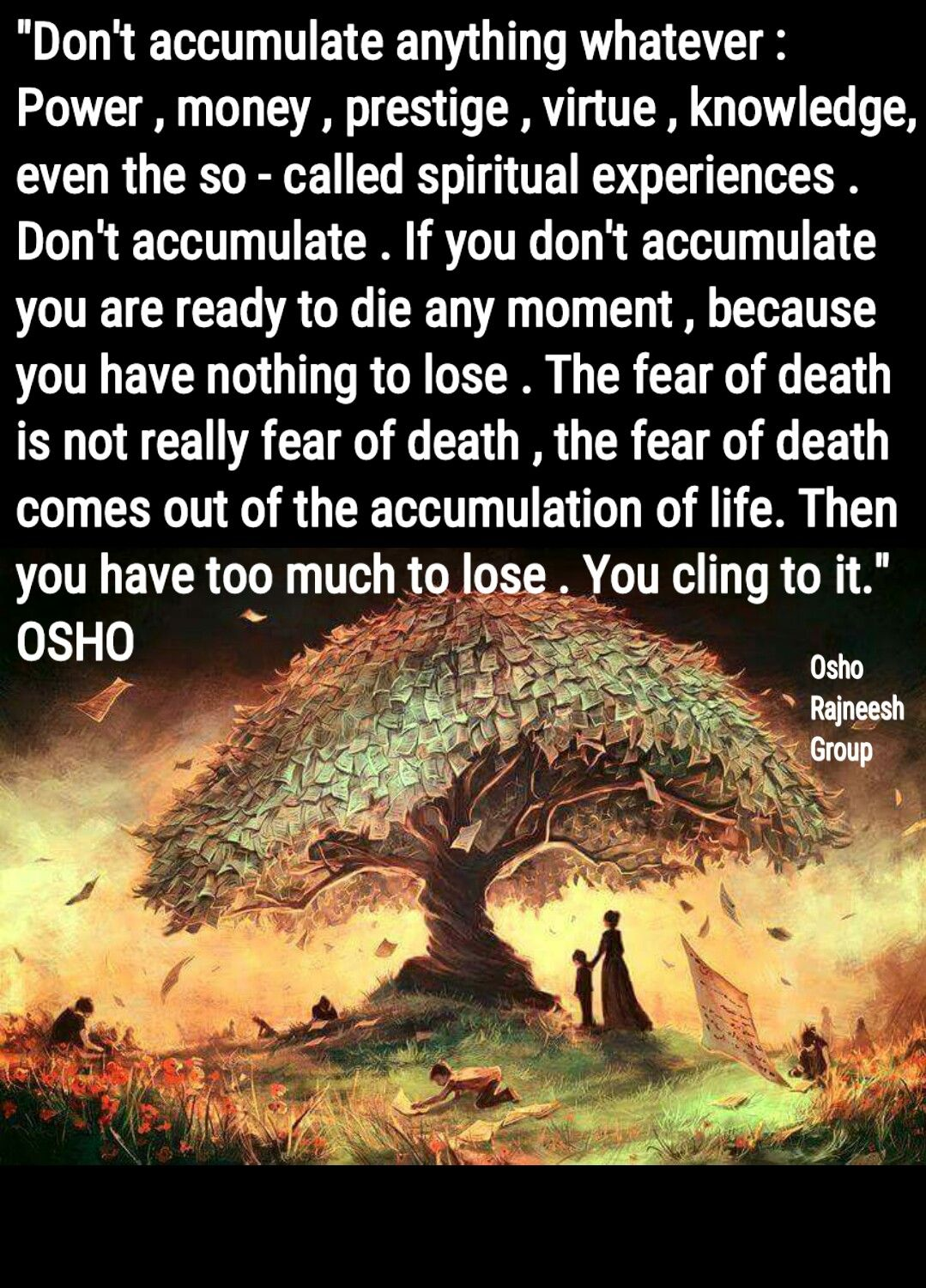 Introducing meditation into your yoga exercises osho wisdom and osho on accumulation geenschuldenfo Image collections