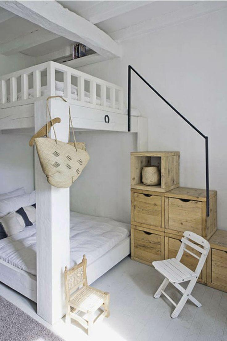 Loft bed storage stairs   ideias para quartos pequenos  Assuntos Criativos  Rooms