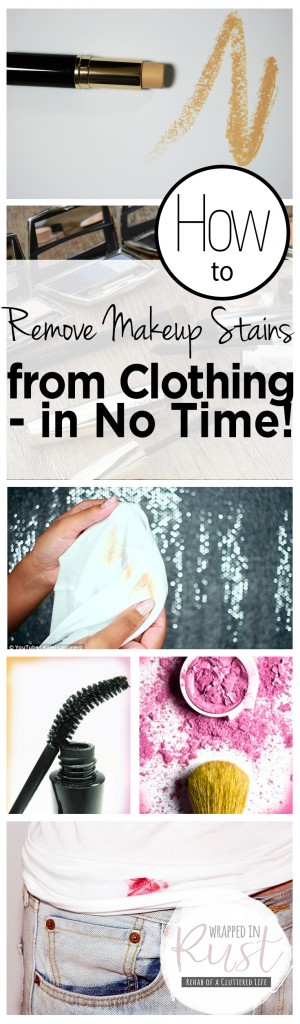 How to Remove Makeup Stains from Clothing in No Time in
