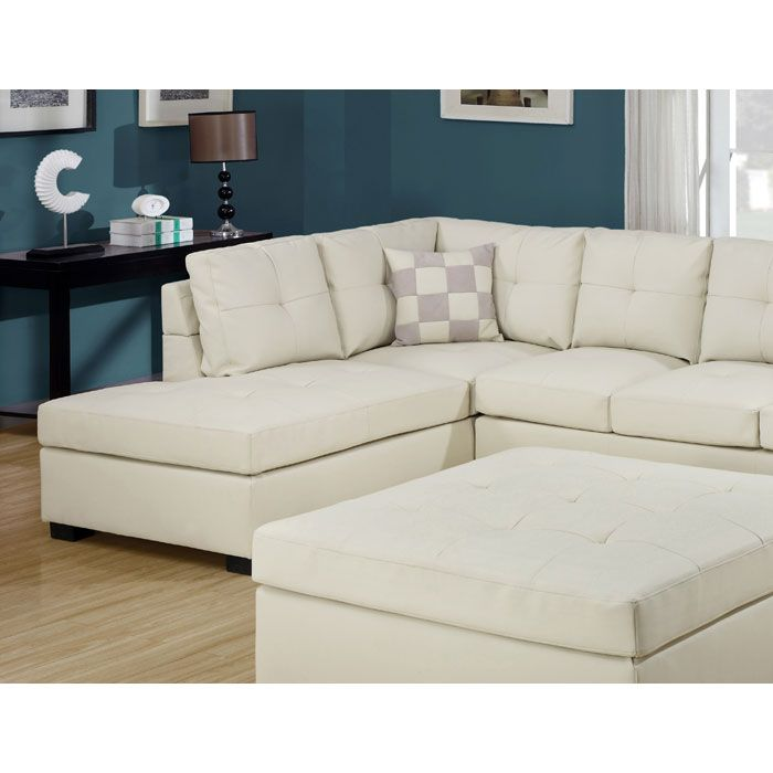 Renee Sectional Sofa Left Facing Chaise Ivory Leather White Sectional Sofa Best Leather Sofa Furniture