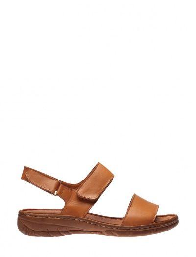 Inci Hakiki Deri Kadin Sandalet 120130002080 Taba 1v1y Com Sandalet Kadin Deri