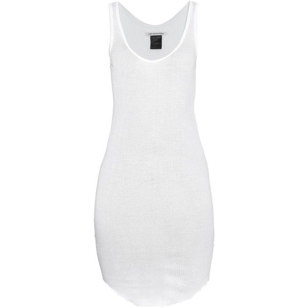 Jersey white scoop neck dress