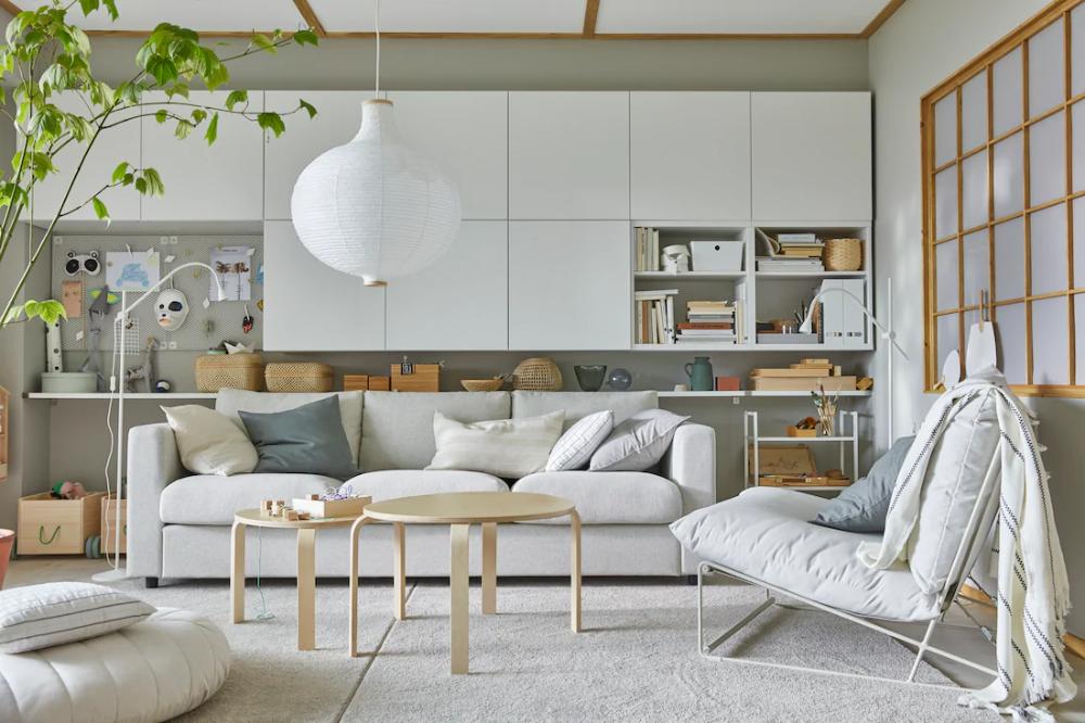 Meuble Salon Decoration Salon Et Sejour En 2020 Salons Minimalistes Ikea Meuble Salon