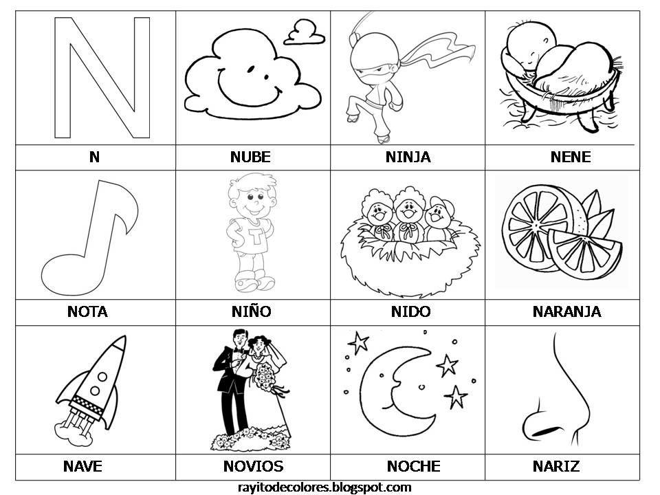 Alfabeto en palabras de la A a la Z | Rayito de Colores ...