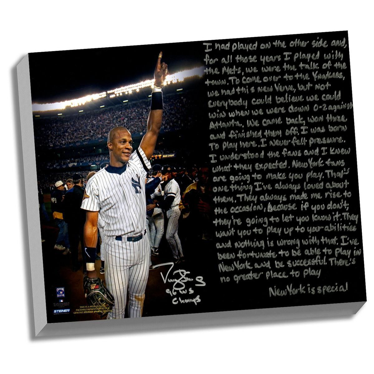 Darryl Strawberry Facsimile 1996 World Series Stretched 22x26 Story Canvas