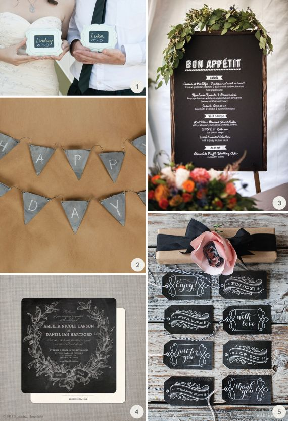 Chalkboard Details For Your Wedding Day