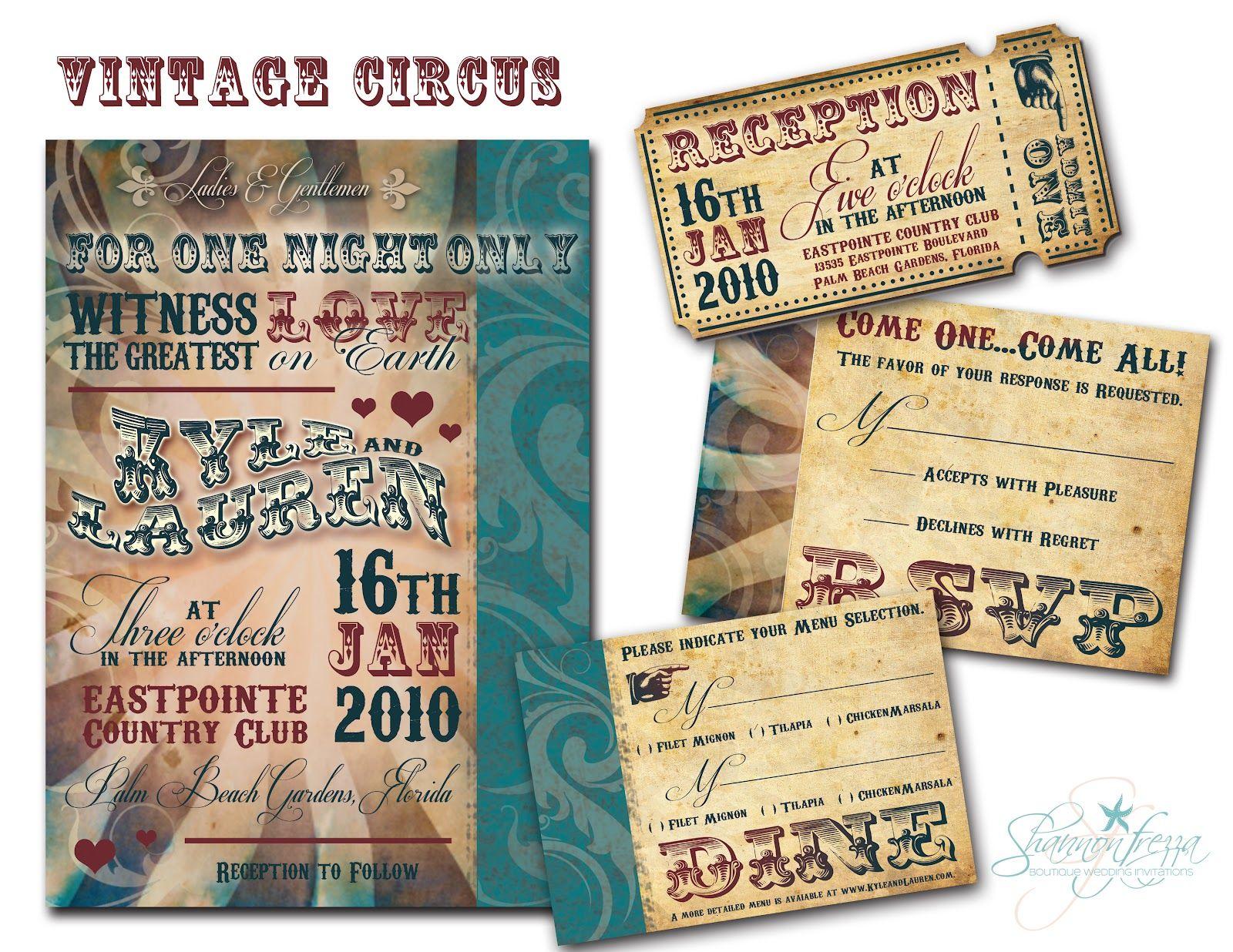 Vintage Circus Themed Wedding | Visit etsy.com/shop ...