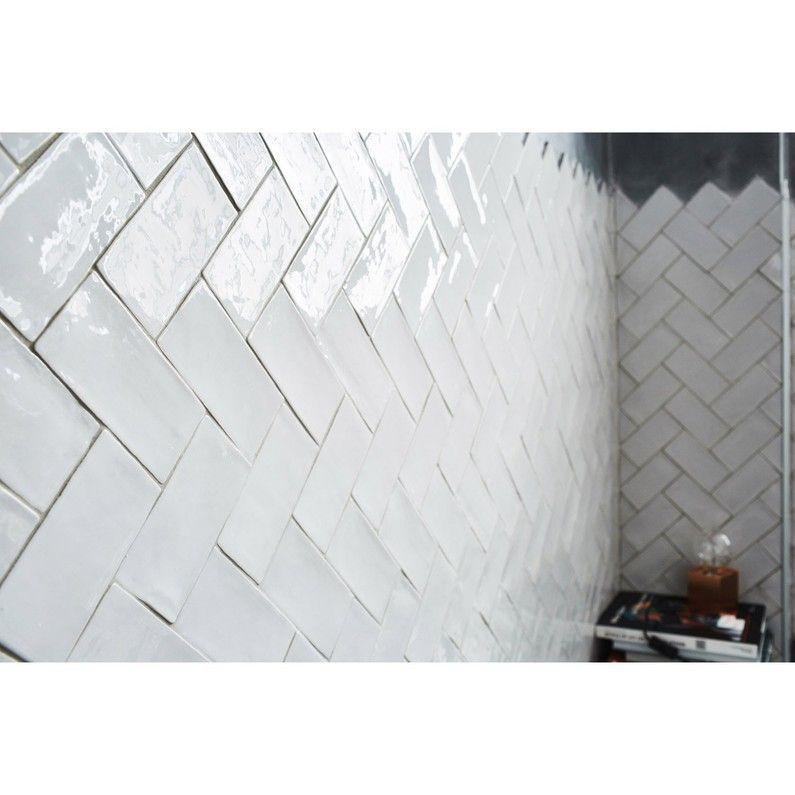 Faience Mur Gris Clair Bakerstreet L 7 5 X L 15 Cm Mur Gris Carrelage Mural Faience