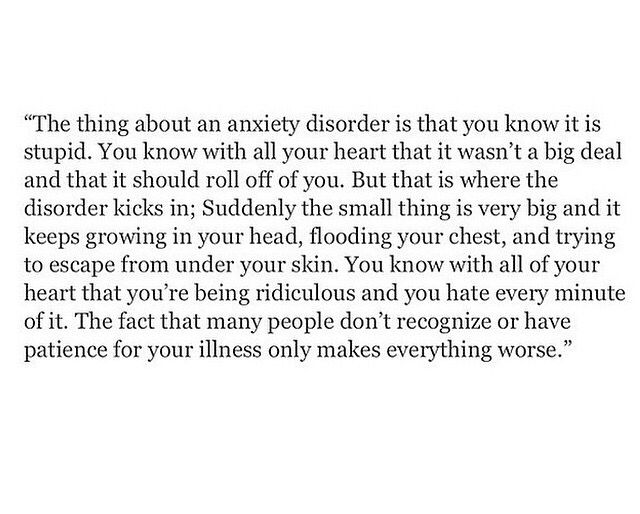 It's hard, and my brain struggles with allowing myself to accept my anxiety instead of fight it. But I keep working on it, because I know giving up isn't an option.