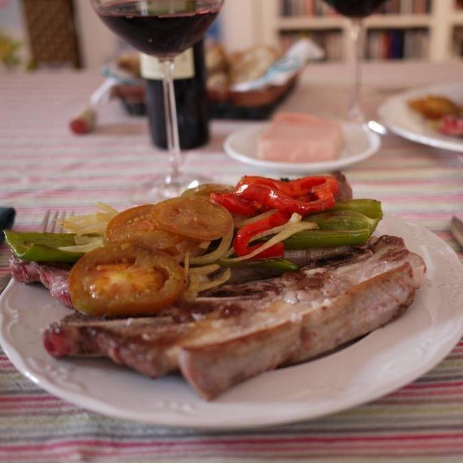 An appetizing plate from Churrasco da Graça in #Lisbon, Portugal  #foodie #travel