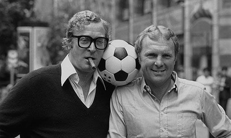 Michael Caine and Sir Bobby Moore