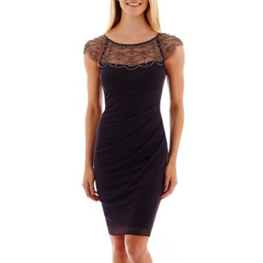 bedf9c198 DJ Jaz Cap-Sleeve Beaded Faux-Wrap Dress found at  JCPenney ...