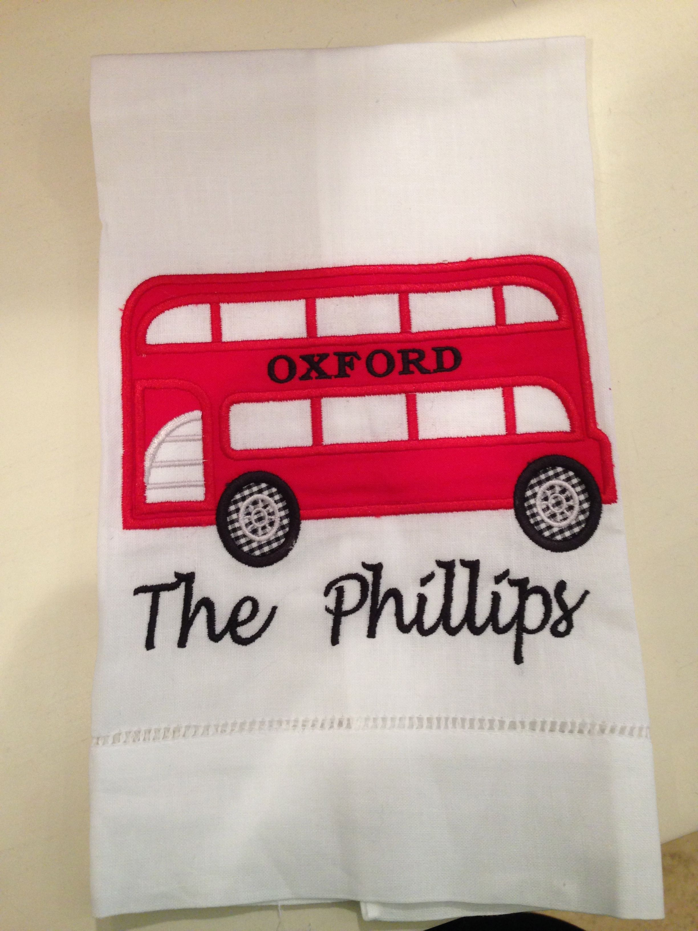 Personalized Tea Towel Perfect For Your Oxford Condo Or
