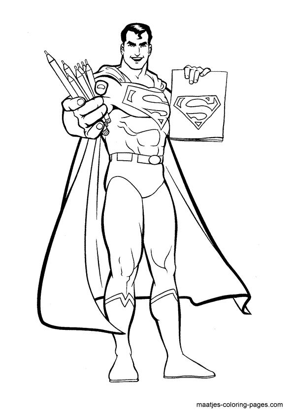 Superman Coloring Page Malarbok Mala