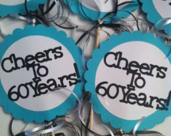 60th Birthday Decorations Cheers To 60 Years By FromBeths On Etsy