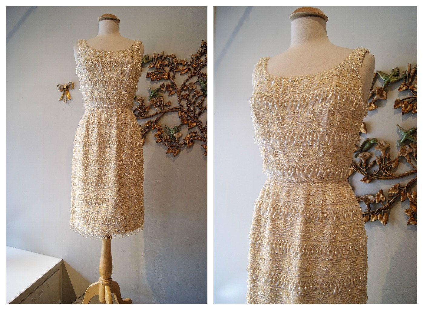 S dress vintage s beaded wiggle dress weddinghere comes