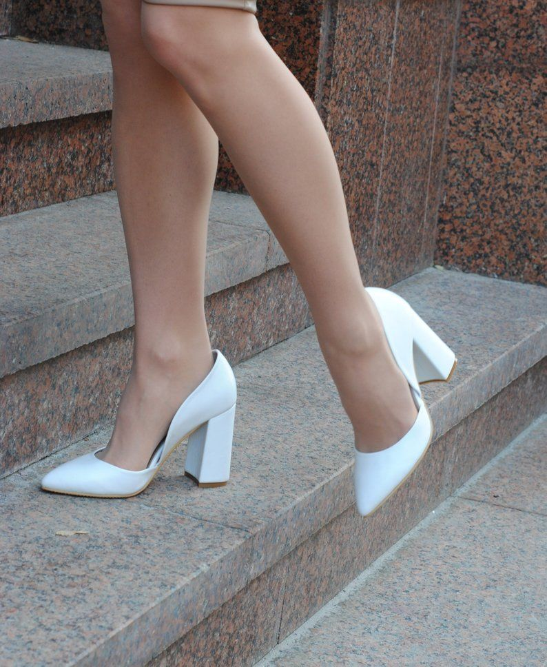 Custom wedding shoes for bride - classic white wed