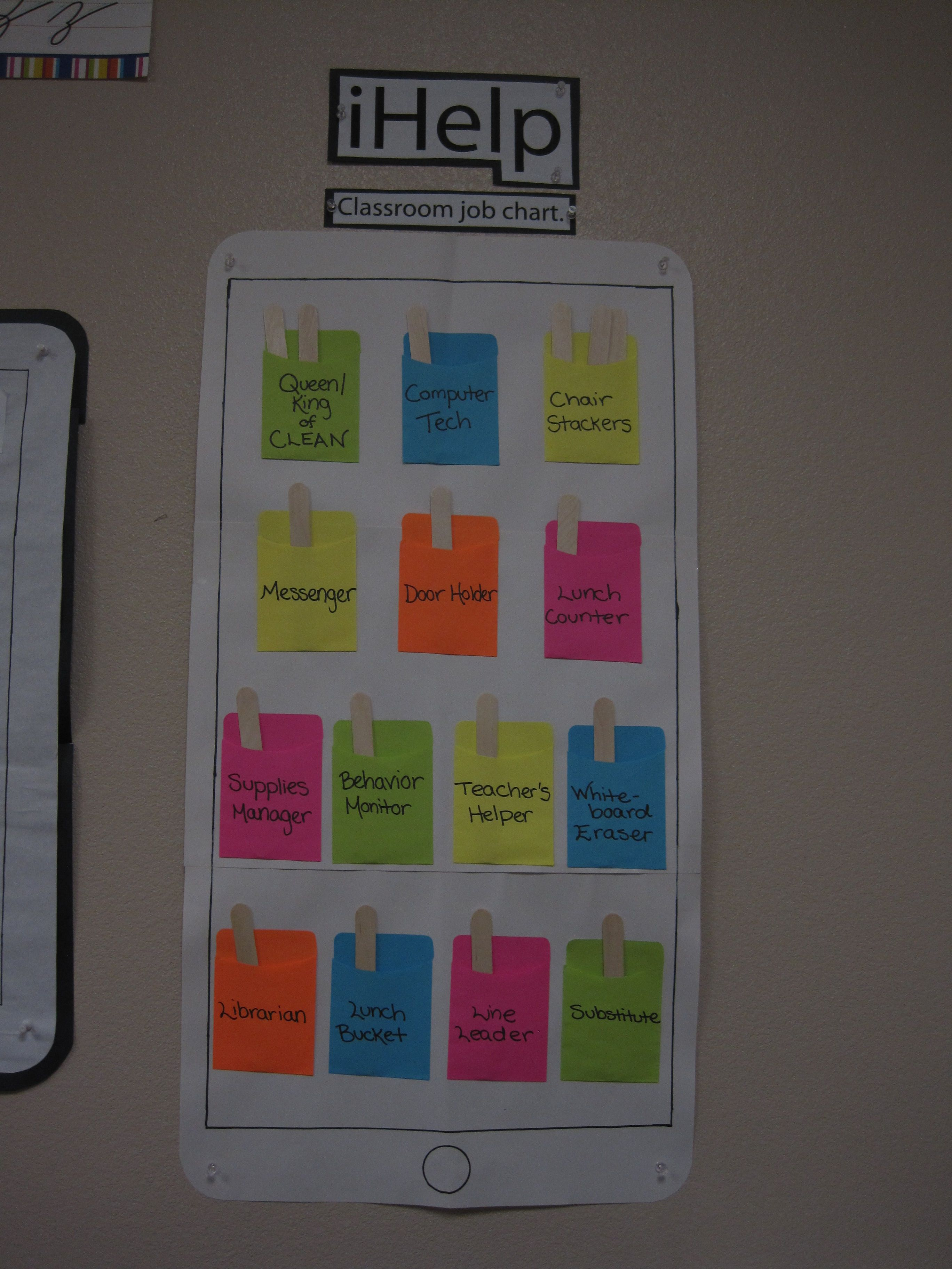 Classroom Ipad Ideas ~ Made this classroom helpers board to fit the theme of