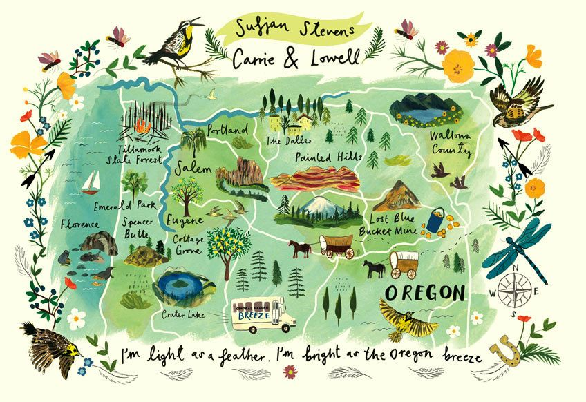 Lowell Oregon Map.Maps Travel Clair Rossiter Illustration Graphics Pinterest