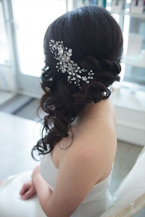 gorgeous side swept wedding