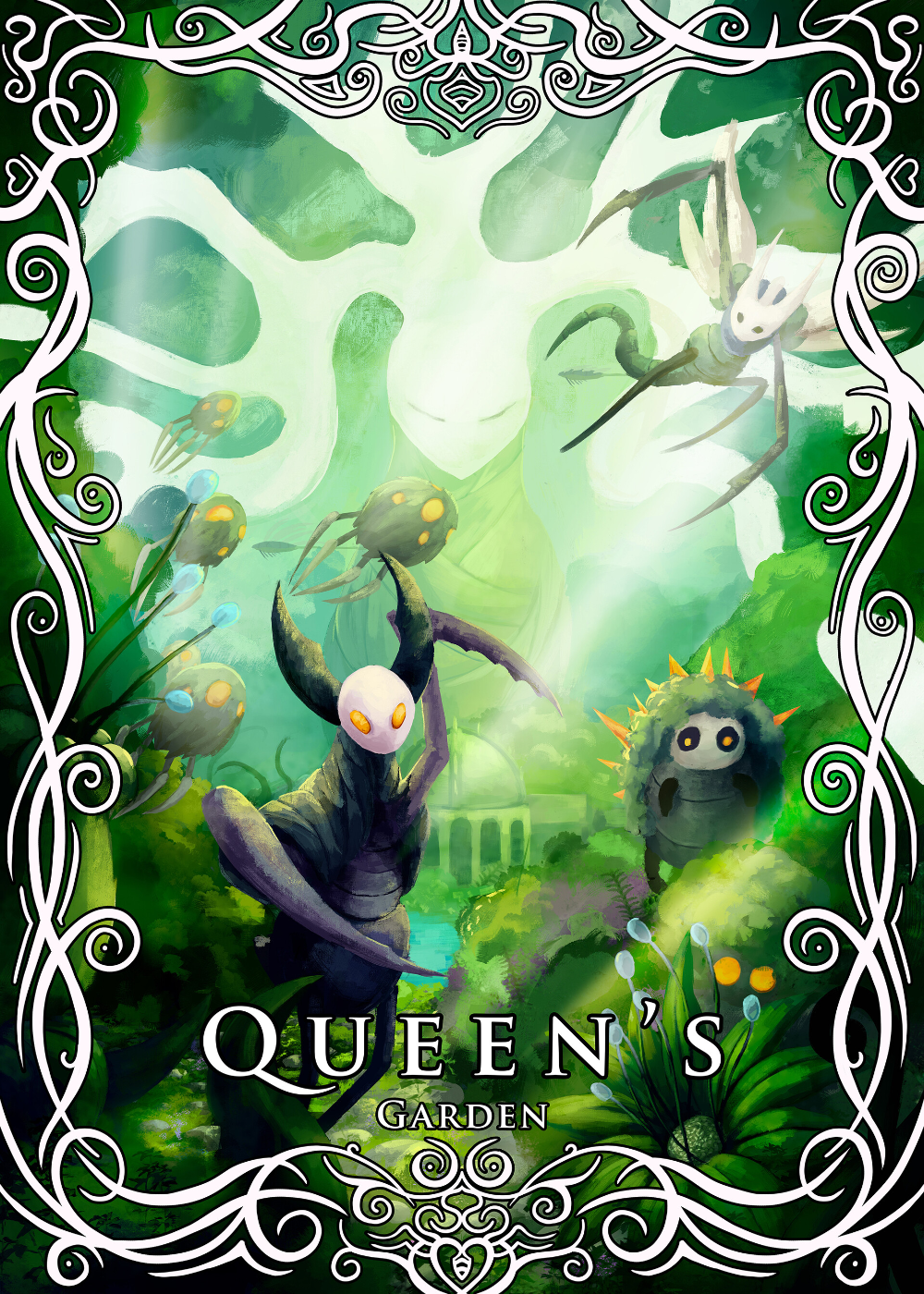 Queens Garden Hollow Knight : queens, garden, hollow, knight, ArtStation, Queen's, Garden, [Hollow, Knight, Serie],, Saphire, Océane, Knight,, Artwork,, Hollow, Night