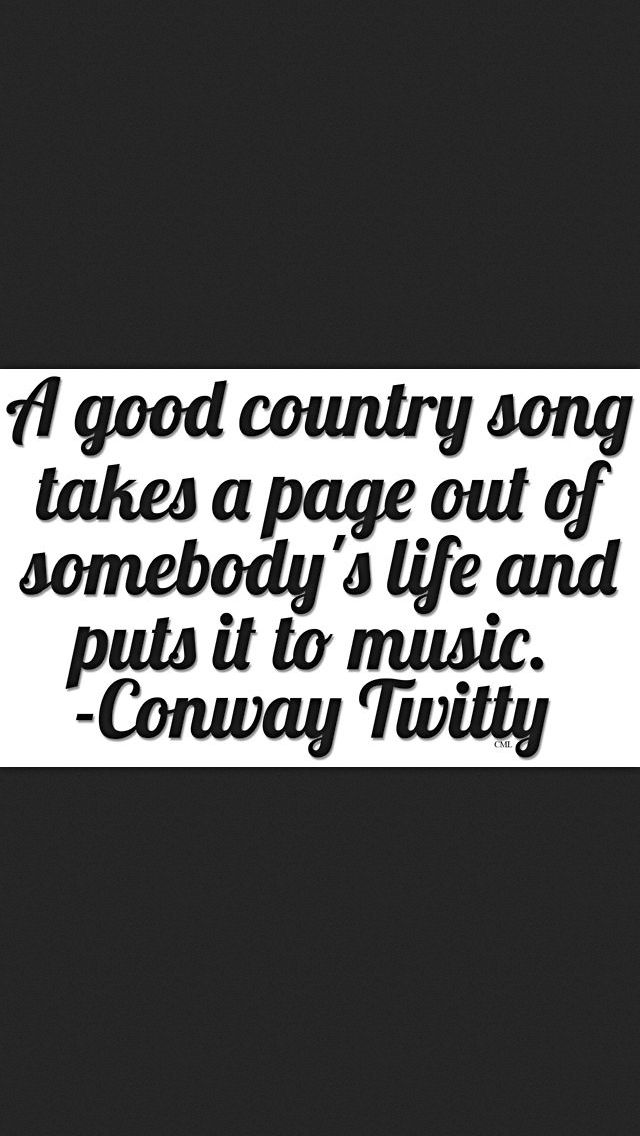 A good country song