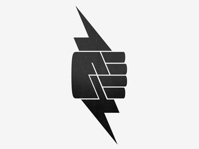 Lightning Fist Graphic Design Logo Logo Design Creative Lightning Logo