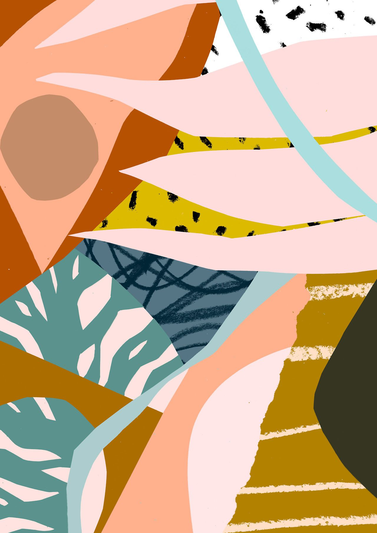 'Antiquity' www.tomabbisssmithart.com #abstract #art #surface #pattern #design #collage