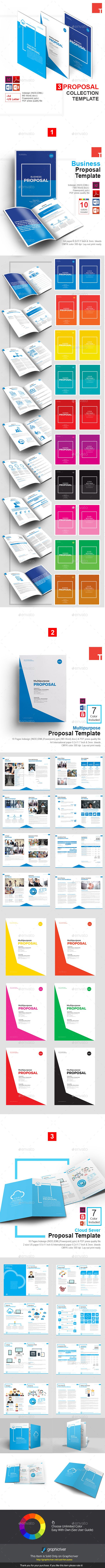 3 Collection Proposal Template Bundle By Terusawa Proposal Template