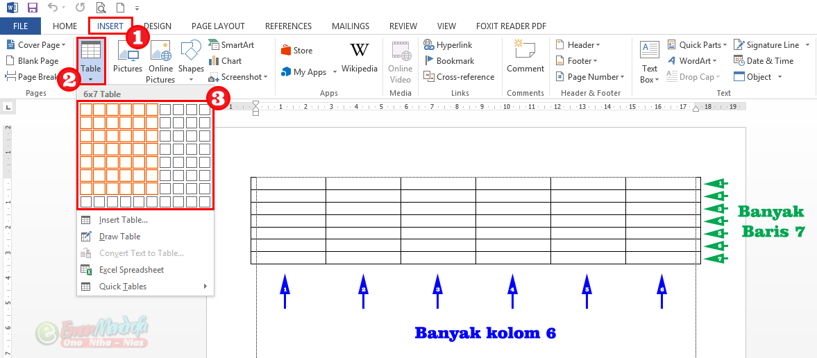 Kenali 5 Cara Membuat Tabel Di Word Beserta Tips Format Dan Desainnya Kata Kata Aplikasi Huruf