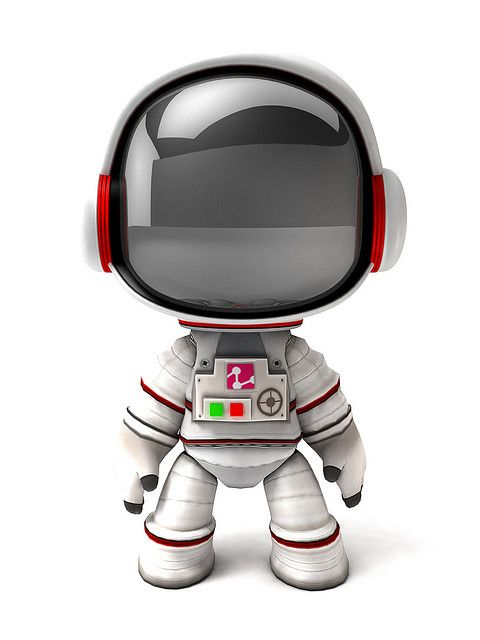 Space Suit Retro Robot Mascot Design Character Design