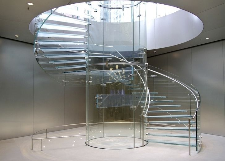 Mobilis store ~ Apple store glass stairs applestorearchitectureretail pinned by