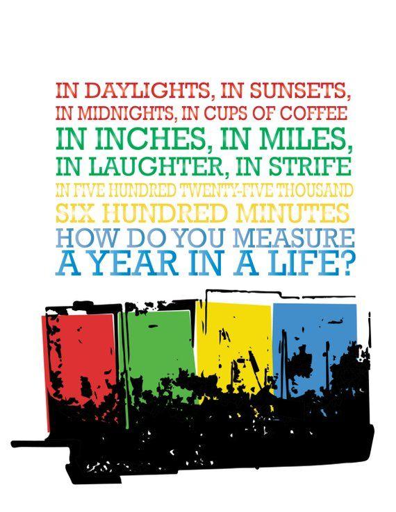 Rent Seasons Of Love Broadway Musical Five Hundred Twenty Thousand Six Minutes Di