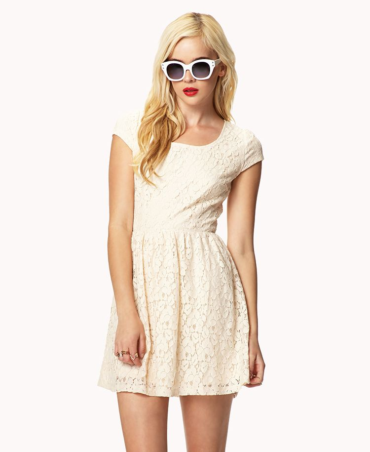 Cutout Back Lace Dress Forever21 2035633066 Picfab