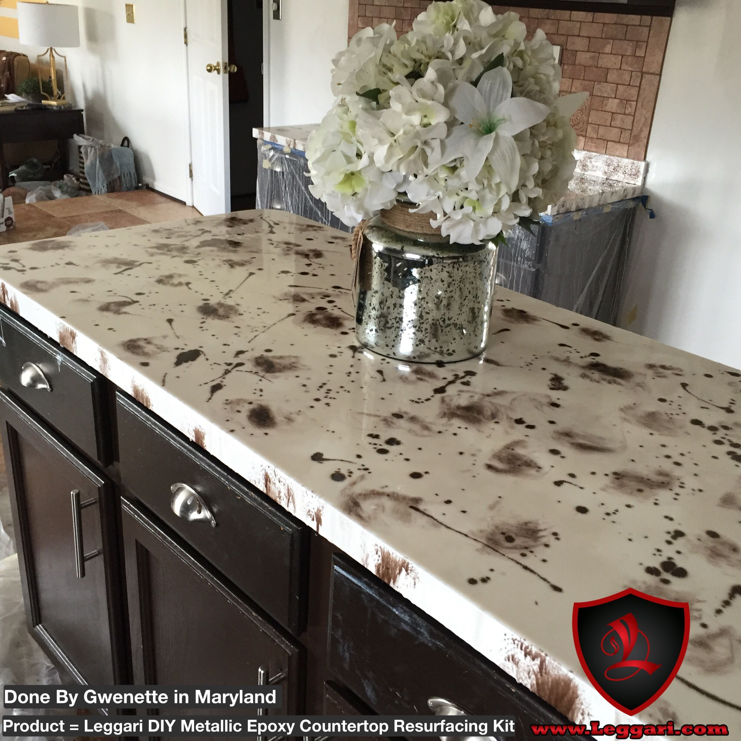 kit gold highlights resurface black epoxy countertops brass countertop pin orange laminate coffee base