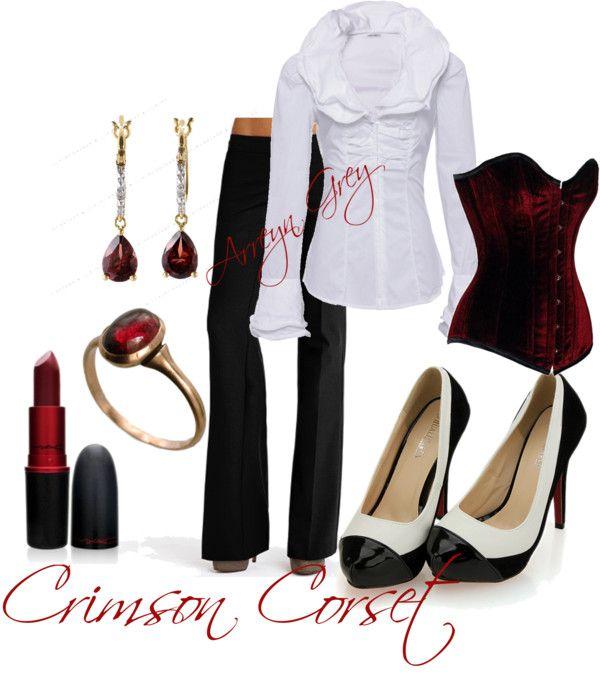 """Crimson Corset"" by arreyn-grey on Polyvore"