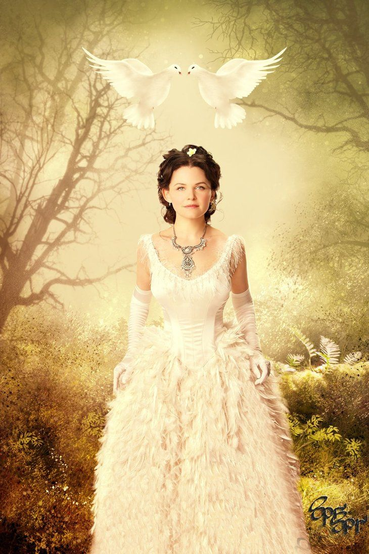 Snow white once snow white once upon a time by for Snow white wedding dress once upon a time