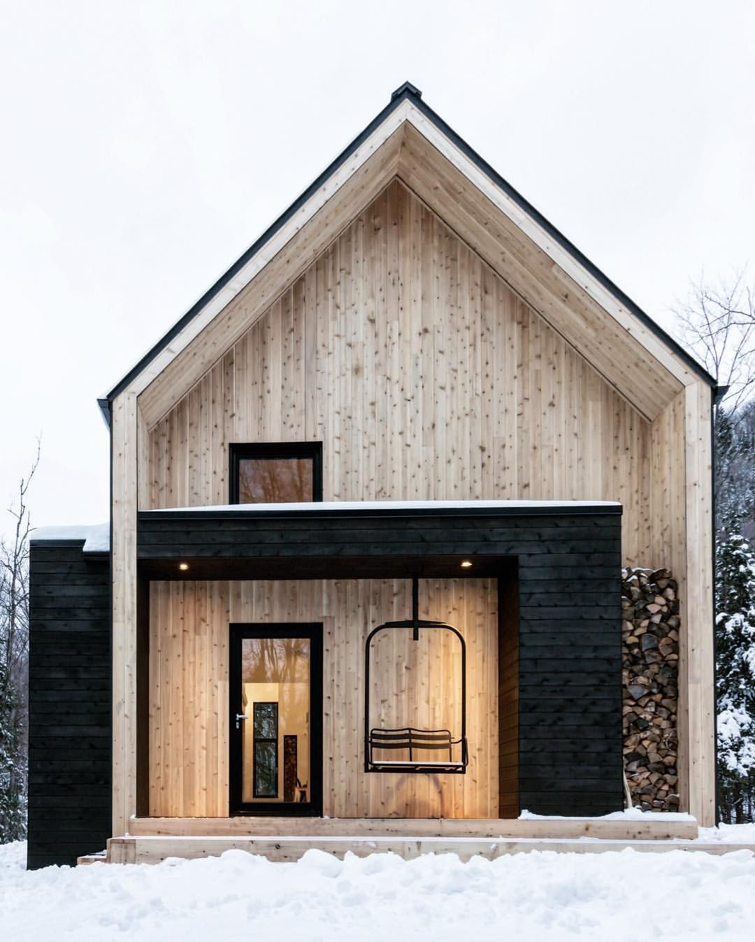 Cargo Architecture Has Clad Villa Boreale In Quebec With Black Metal And White Cedar Via Designboom Home Photography Minimal