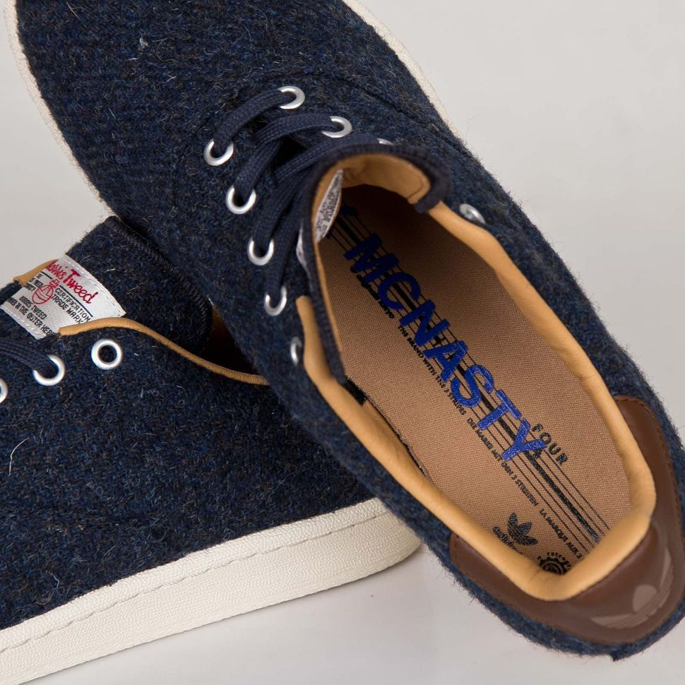 new product 128a3 9fcb1  adidas MCN Carlo 84 Lab x  MarkMcNairy Harris Tweed Pack  sneakers